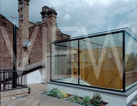 Roof extension terrace.