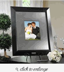 contemporary signature picture guest book frame with engraved photo mat guest book ideas for wedding