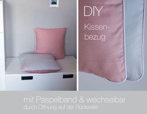 Kindertage | DIY: abnehmbaren Kissenbezug mit Paspelband nähen | http://kindertage.eu