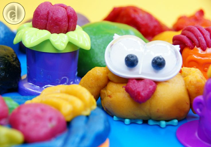 Bright colourful gluten free playdough for keeping a gluten free kitchen gluten free!