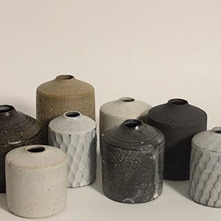 A new collection of miniature vases by Mizuyo Yamashita.