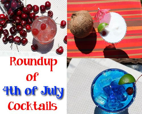 All the drinks you need for your 4th of July party.