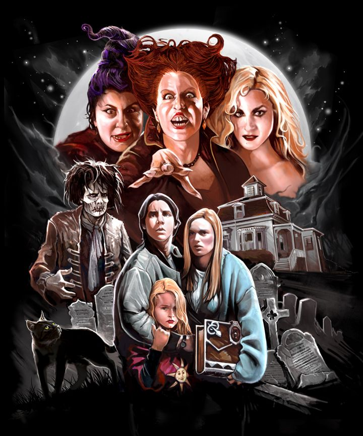 This beautiful Hocus Pocus shirt designed by Abrar... - Broke Horror Fan