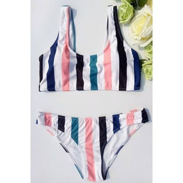 Oshlen Multicolor Stripes Bikini Set