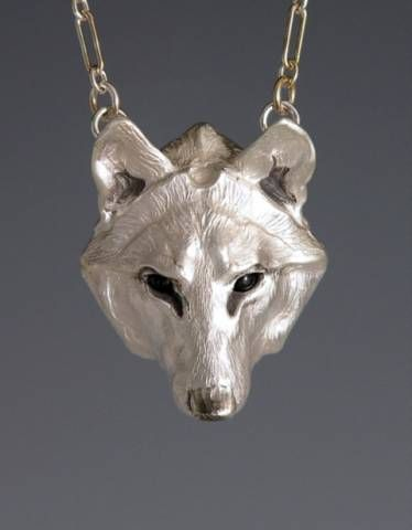Handcrafted Silver Jewelry Wolf Jewelry Pendant, Animal Totem Jewelry