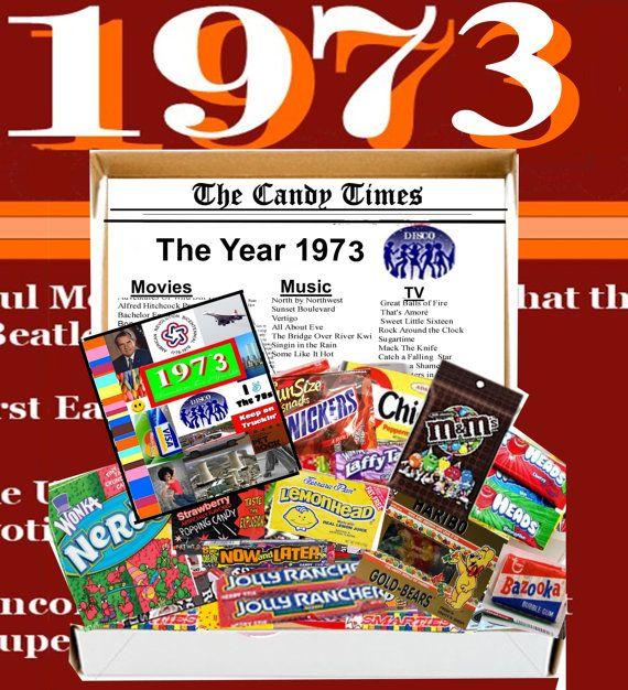 40th Birthday Candy Gift Retro Box by NaturallyGiftedNY on Etsy, $24.99