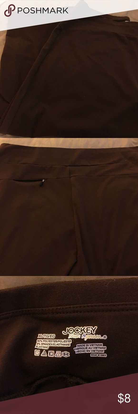 Jockey Brown Lounge Pants XL Jockey Pants pocket in back. Cute for yoga or running errands. I live in a clean smoke free home with furry babies. Jockey Pants Track Pants & Joggers