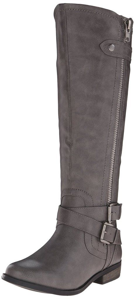 - Manmade - Imported - Synthetic sole - Boot Riding boot RAMPAGE caters to the young contemporary woman, offering her eclectic, fashion-forward products to wear in every aspect of her constantly evolv