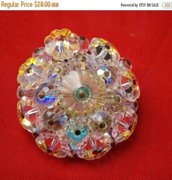 Fleurs en verre cristal  grappe de fleur en perle  atomique