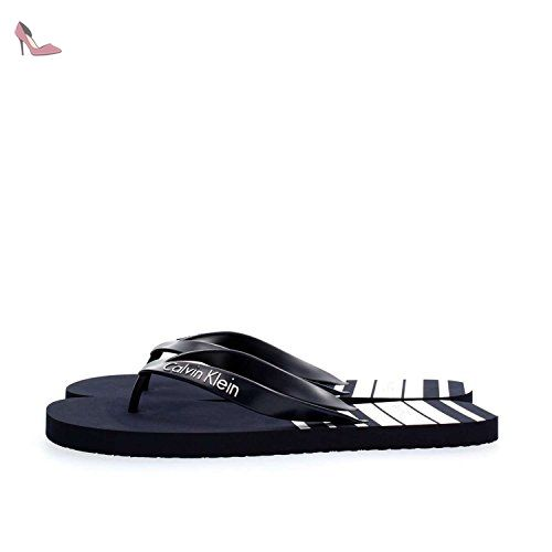 CALVIN KLEIN KM0KM00125 TONG Homme STRIPE NAVY S - Chaussures calvin klein (*Partner-Link)