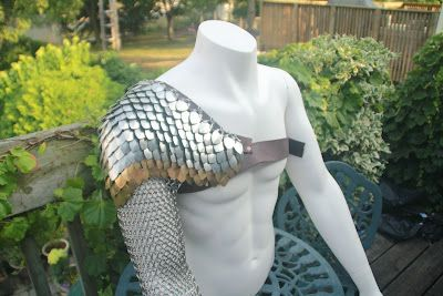 ...the real tony stark?: Scale mail gladiator arm sleeve replica armour