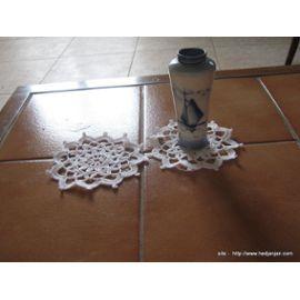Lot Napperon Crochet -Ref 0833 -2 ,00 Euros - Blanc- Diamètre 12