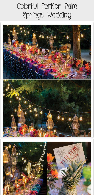 Colorful Parker Palm Springs Wedding Frühlingshochzeit