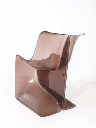 Jean Dudon; Molded Plastic '50/50' Chair, 1960s.