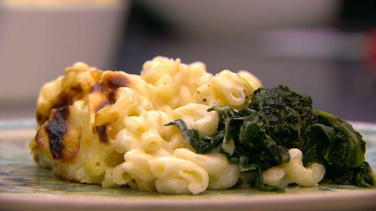 Trøffel Mac n' cheese med spinat