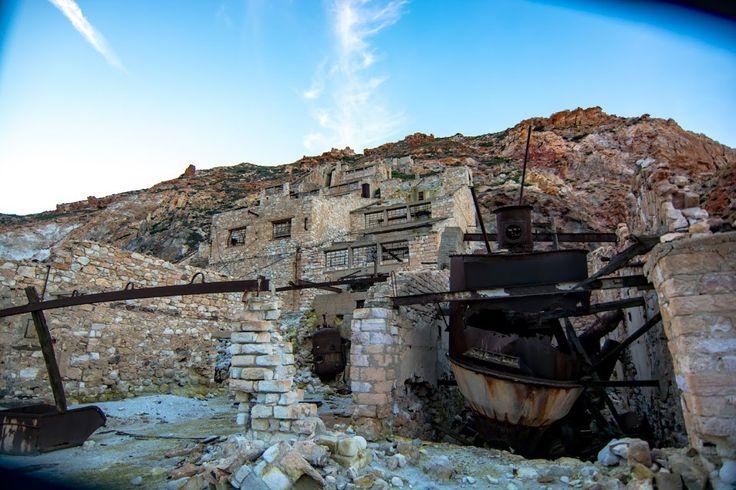Milos Island, mines