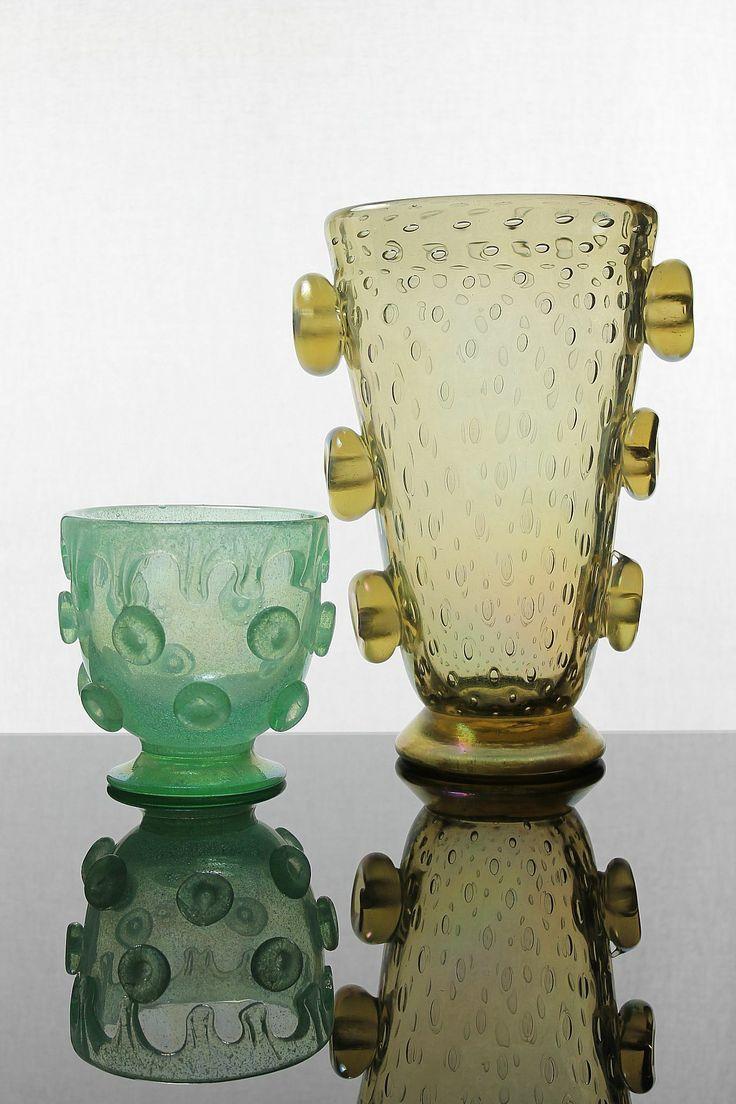 Ercole Barovier 1930 Vetreria Artistica Barovier & C. Murano. For more information: http://tillipan.com/ercole-barovier-vases/ercole-barovier_vases/