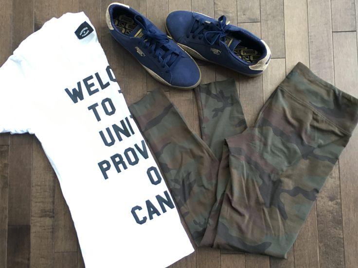 Dog Park uniform right here! These comfy leggings and great-fitting tee are perfect for chasing my little pup around this spring! These sneakers are pretty great, too! Click the links to shop below! Tee: Province of Canada Leggings: TNA Sneakers: Puma  Follow @styledtosparkle on Instagram for more outfit inspiration! Subscribe for sale notifications for…
