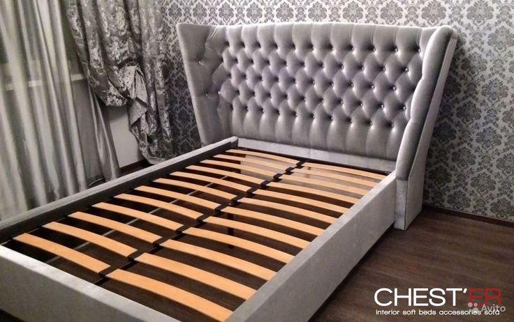 Кровать Эммануэль в вельвете купить в Красноярском крае на Avito
