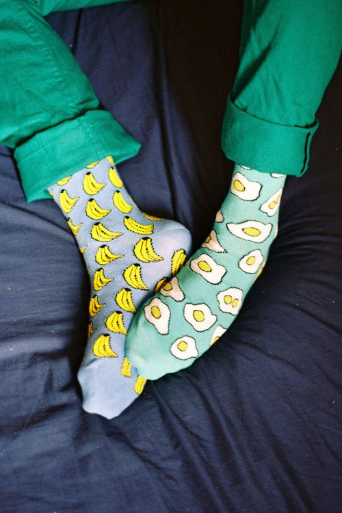 Instead of bananas, the other sock needs to be bacon.  Then it'd be PERFECT