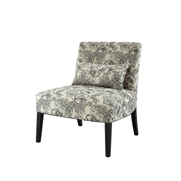 lilia fabric padded armless accent chair the lila armless chair is an easy addition to