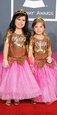 Sophia Grace and Rosie 2012 Grammy Awards