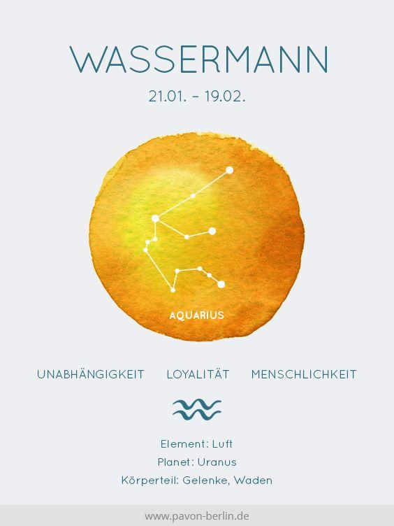 #Sternzeichen #Wassermann #Aquarius #Sternbild # Bedeutung und #Eigenschaften in einer #Grafik. Entdecke dazu Deine #Sternzeichen #Kette #Wassermann i…