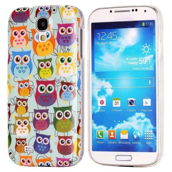 Kleurrijke uiltjes hoesje Samsung Galaxy S4
