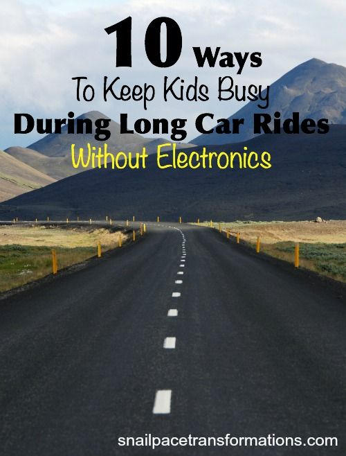 10 ways to keep kids busy on long car rides without electronics. Make your next road trip with children less stressful.