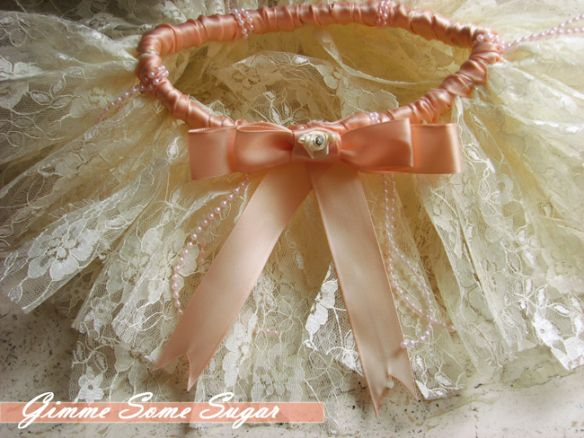 Pearls and Peach Tutu from The Peaches & Cream Collection | Gimme Some Sugar