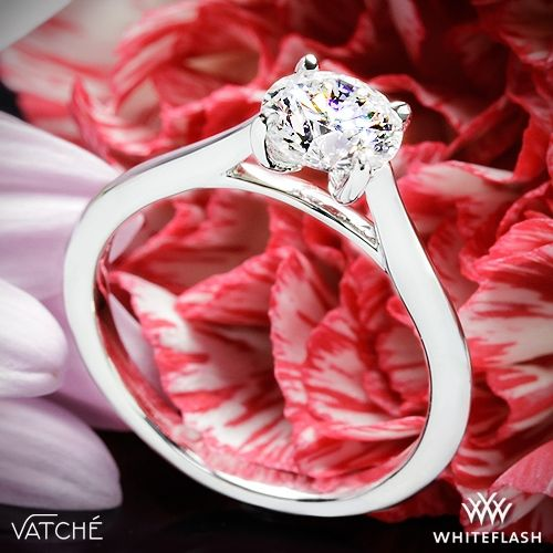 Perfect The Vatche Mia Solitaire engagement ring features a unique setting that holds the center stone
