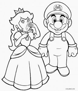 Kleurplaten Prinses Peach.Mario And Princess Peach Coloring Pages Crafts Coloring Sheets