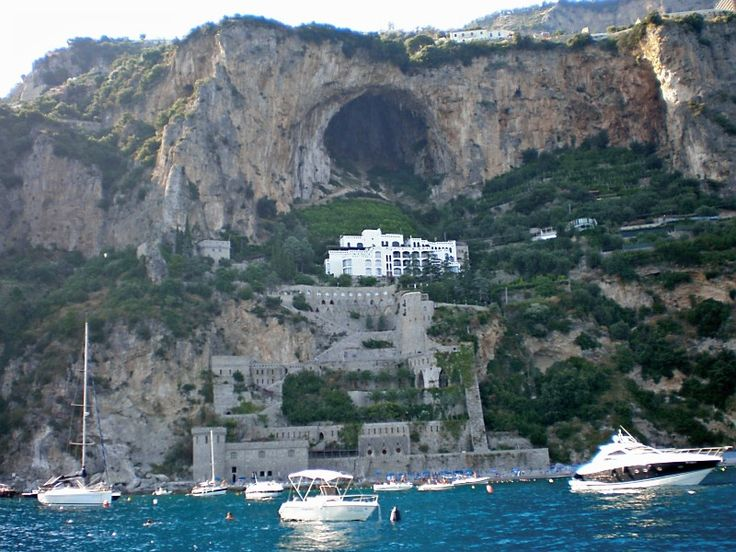 Conca dei Marini is one of the most popular harbors on the Amalfi Coast...stop here for an AMAZING lunch in one of their wonderful seaside restaurants, or have your food delivered onto your boat!