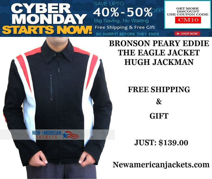 Bronson Peary Eddie the Eagle Olympic Jacket from our online store. Also this Cybermonday Sale With Free Shipping + Gigf!!  #EddietheEagle #Movie #HughJackman #Cybermonday #Celebrities #Cosplay #Fashion #MenFashion #geek #geektyrant #Hollywoodmovie #Onlinestore #MensWear #MensFashion #MensOutfit #MensJackets