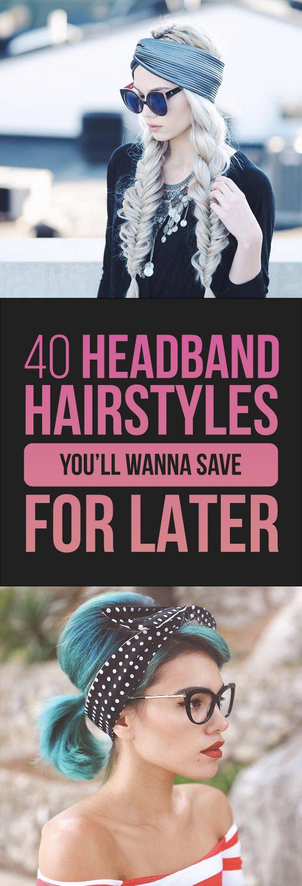 Tousledbob. (Alanna Durkovich) Big bow headband. (Brittany Sullivan) Hidden headband. (Missy Sue) Afro textured hair. (Olaj Arel) Side knotted braid. (Ashley McMullen) Messy summer bun. (Emma Chen) Face framing curls. (Alanna Durkovich) High ponytail with thin headband. (Ashley McMullen) Lace headband. (Headbands of Hope) Rolled-up. (Emily Meyers)