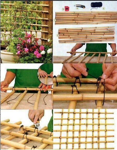 DIY Bamboo Trellis / Lattice Girder