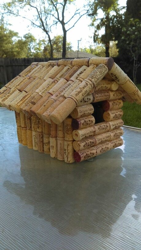 Wine Cork Birdhouse  winewithheidi@gmail.com