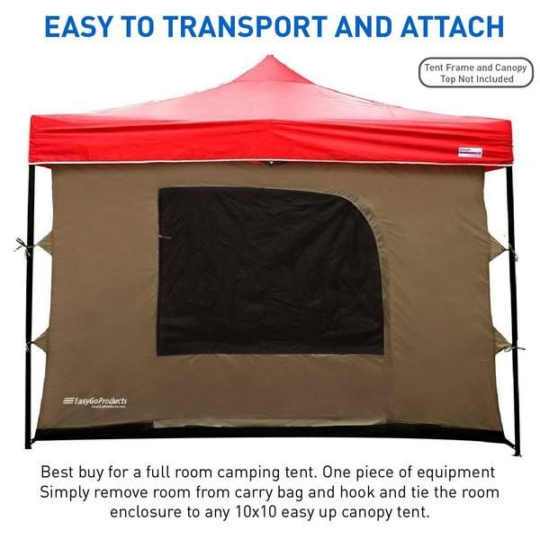 Camping Tent Attaches To Any 10 X10 Easy Up Pop Up Canopy Tent With 4 Walls Pvc Floor 2 Doors And 4 Windows Tent Best Tents For Camping Family Tent Camping