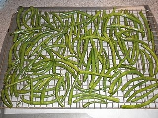 Green bean chips. I've just eaten a 4 oz bag in about 3 hours. Guess it's time to start making my own.