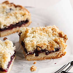 Lemony Huckleberry Crumb Bars