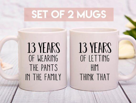 13th Anniversary Mug 13th Wedding Anniversary Gift 13 Years Anniversary Mu 15th Wedding Anniversary Gift 30th Wedding Anniversary Gift 29th Anniversary Gifts