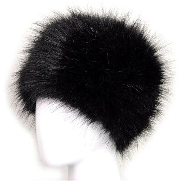 Dikoaina Faux Fur Cossack Russian Style Hat for Ladies Winter Hats for... ($13) ❤ liked on Polyvore featuring accessories, hats, cap hats, fake fur hats and faux fur hats
