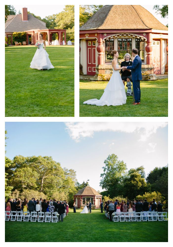 Late August afternooon #gardenwedding at the #teahouse! Catered by Fireside Catering. (photo c/o Studio Nouveau) #picturesque #beverlyma #weddingvenue #newenglandwedding