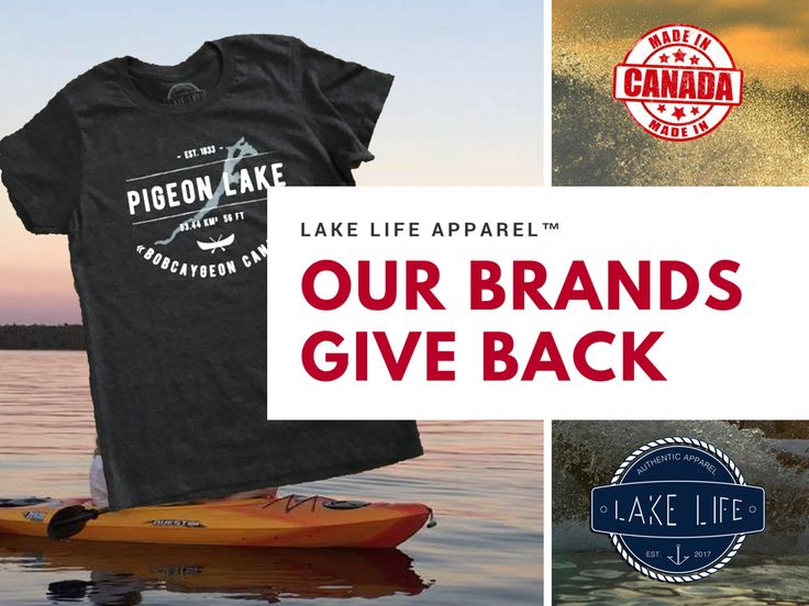 #loveyourlake with our Lake Life Apparel at Buckeye Surf! Featuring Pigeon Lake, Sturgeon Lake, Balsam Lake and our Ode to Boyd Island. Every purchase gives back! $5 from each item purchase is donated to lake projects in the area!