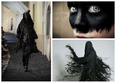 This is a fabulous frayed look for the costume, we should totally make one of these...