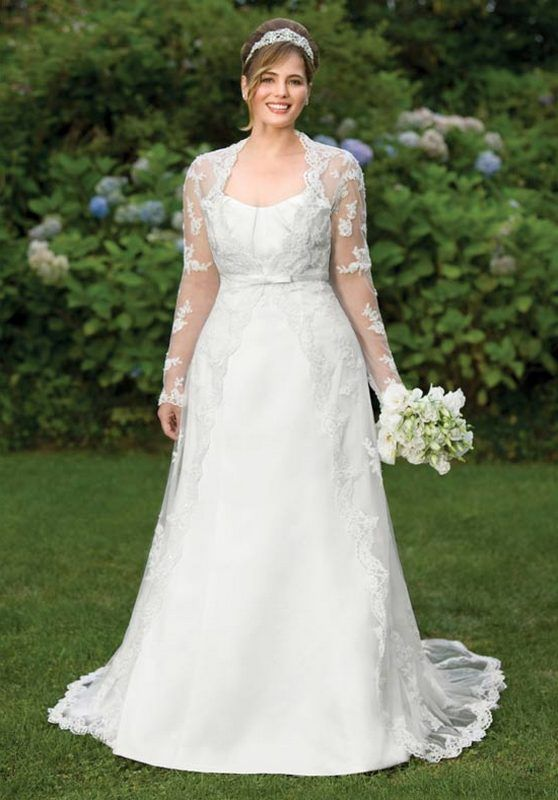 Wedding dresses for older plus size brides clothes for Plus size wedding dresses for mature brides