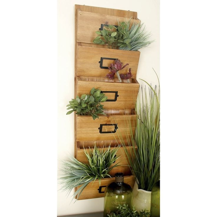 Deco 79 58613 Wood Wall Letter Holder