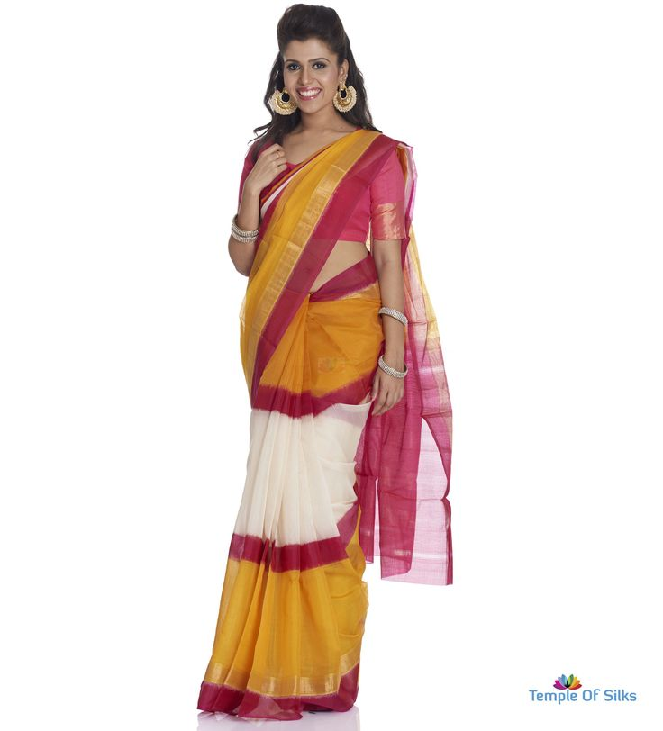 Three part silk cotton saree