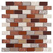 Agrigento Brick Glass Mosaic bathroom back splash