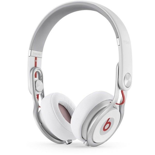 Beats by Dre Beats Mixr Headphones ($250) ❤ liked on Polyvore featuring men's fashion, men's accessories, men's tech accessories and white